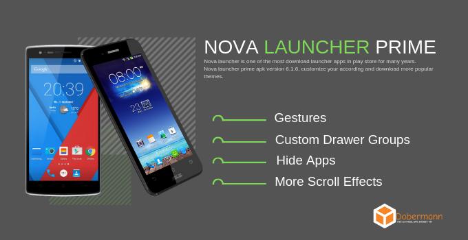 Nova launcher prime apk version 6.1.11 Final apk + TeslaUnread apk Free