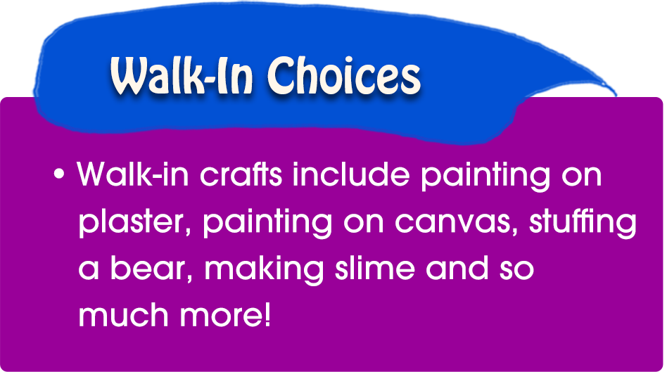 Here Are the Types Of Arts and Crafts Parties We Offer | Craftastic