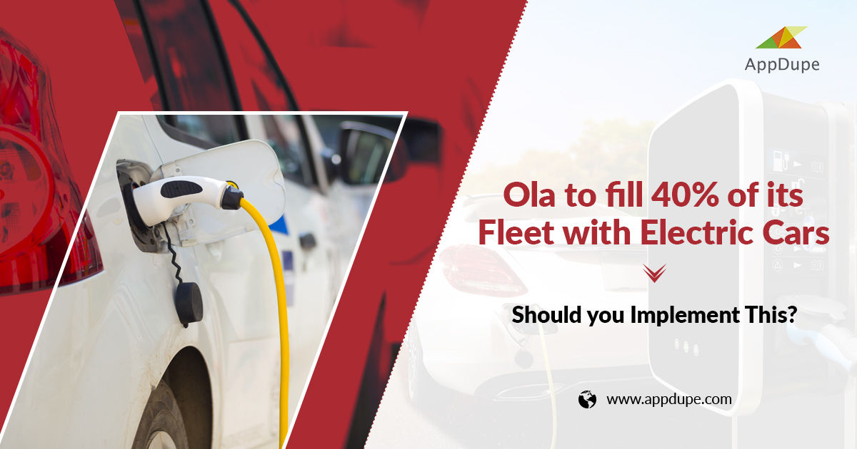 Ola, to fill 40% of its fleet with electric cars