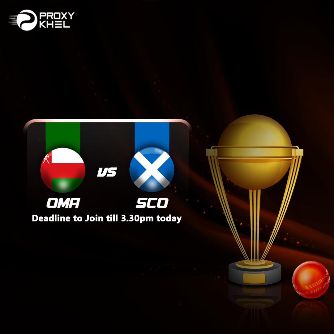 SCO vs OMA ICC Twenty20 Qualifier| Proxy Khel Predictions.