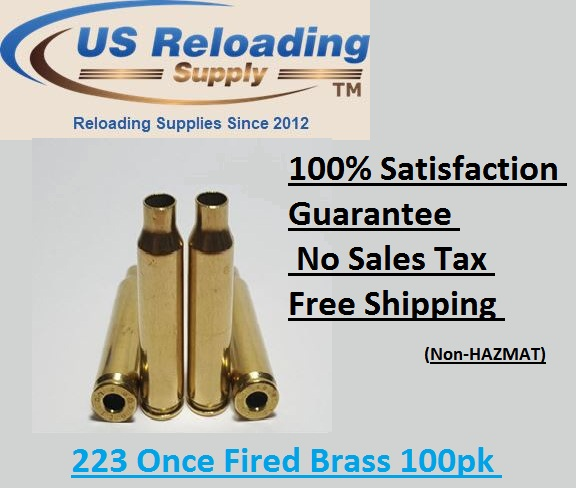 Once Fired 223 Brass with Free Shipping