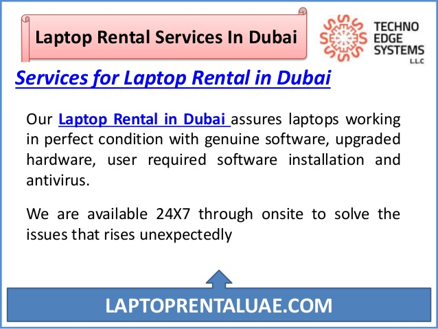 Bring Innovative Change with Laptop Rental Dubai