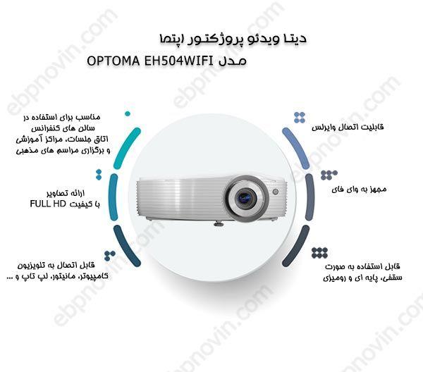 دیتا ویدئو پروژکتور اپتما OPTOMA EH504WIFI