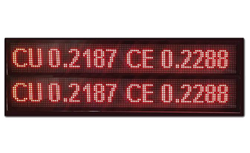 Double Line Scrolling Display Board