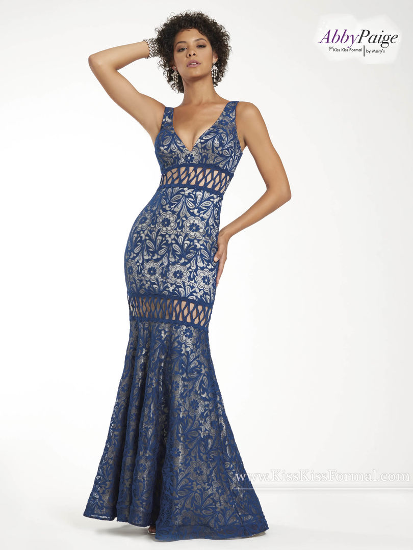 Malia Rose Prom Dresses | Style - P3920  in Ivory or Dark Navy Color