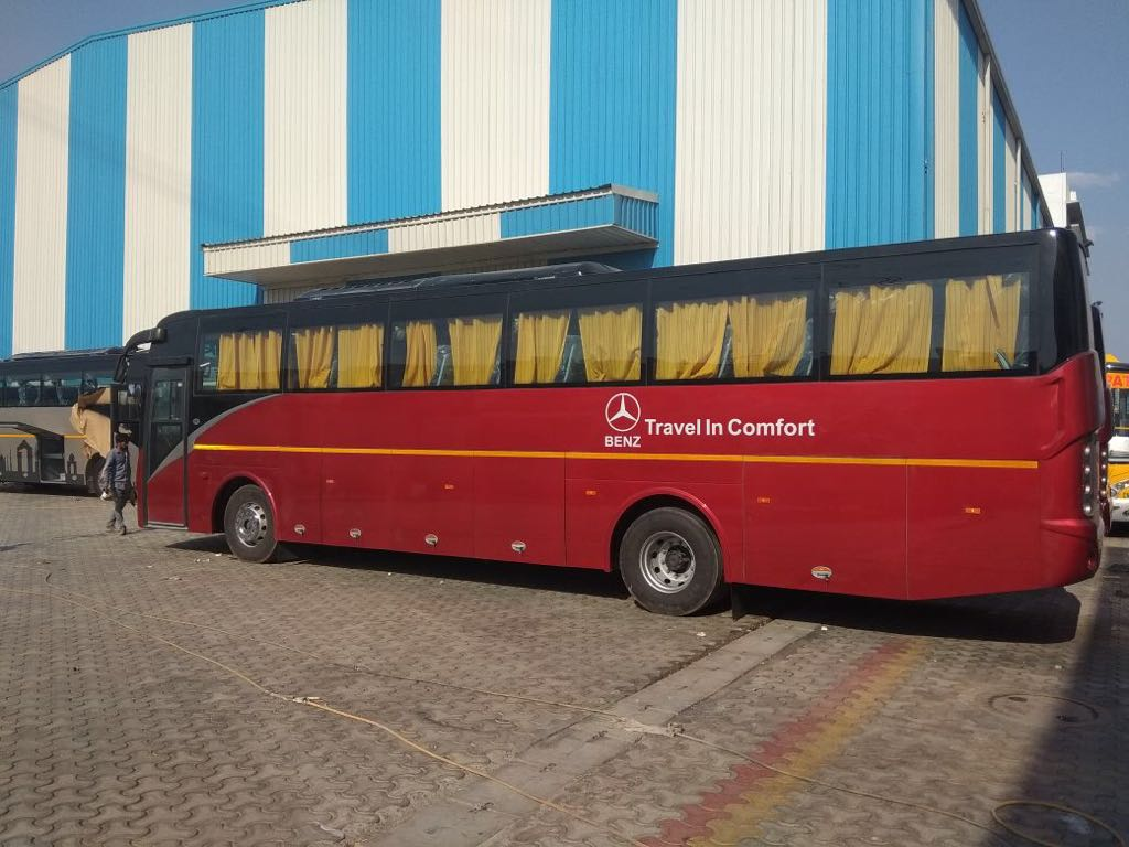 Bus Hire in Delhi, AC Bus on rent, Tourist Coach Bus 41, 45, 54, 60 seater