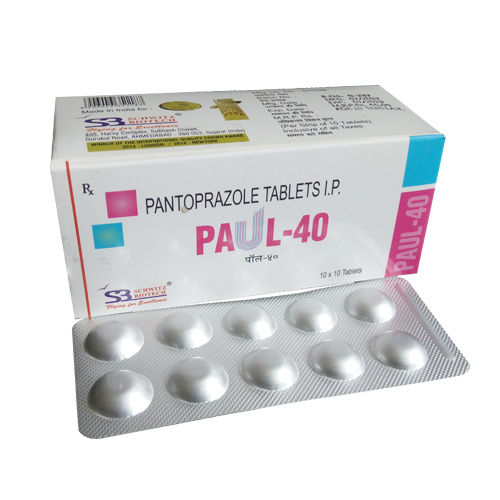 Paul-40 Tablet, Pantoprazole 40 Mg Tablets - Schwitz Biotech