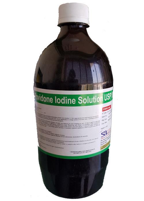 Topical Preparation, Povidone Iodine Solution 10% W/V Usp - Schwitz Biotech