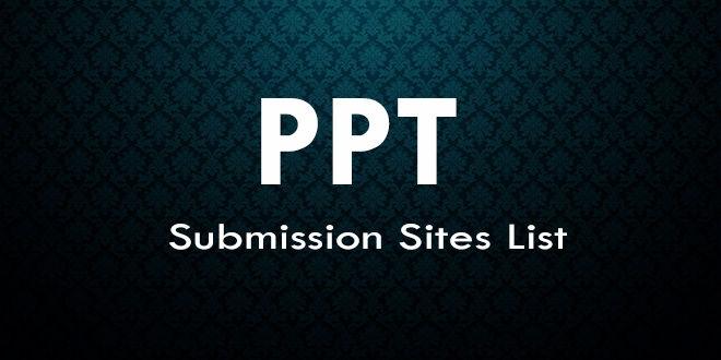 Top 50 High PR PPT Submission Sites List – PPT Sharing Sites | Yogesh Gaur
