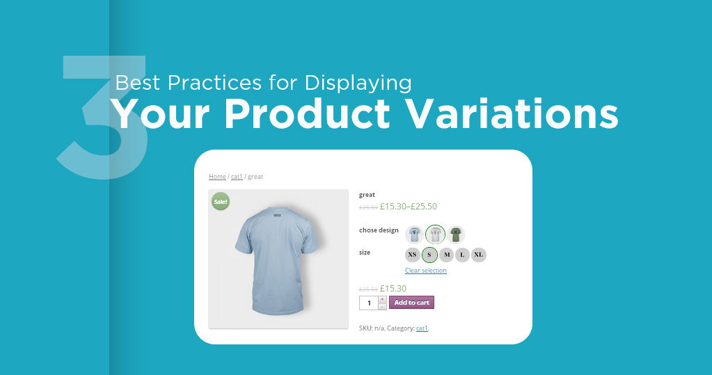 3 Best Practices for Displaying Ecommerce Product Variations