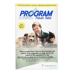 Program for Dog |Program Flavor Tabs Flea & Tick Treatment for Dog Supplies - PetCareClub.com
