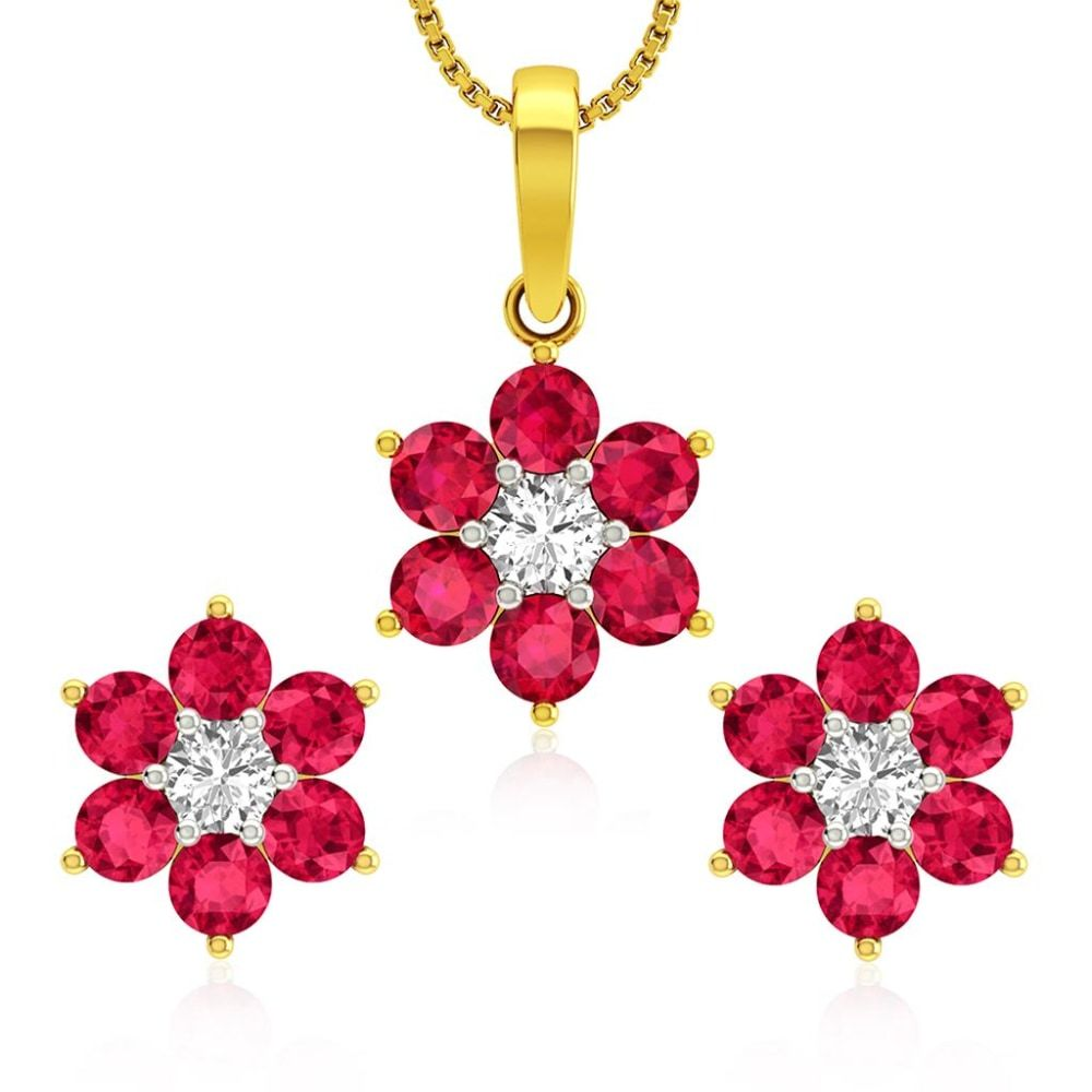 Buy Pendant Sets Designs Online Starting at Rs.9102 - Rockrush India