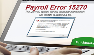 How To Fix QuickBooks Error 15270 - Intuit Payroll Update Incomplete Error 15270
