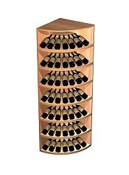 Corner & Curved Wine Rack Displays | Rounded Wine Racks | Vitnage Cellars