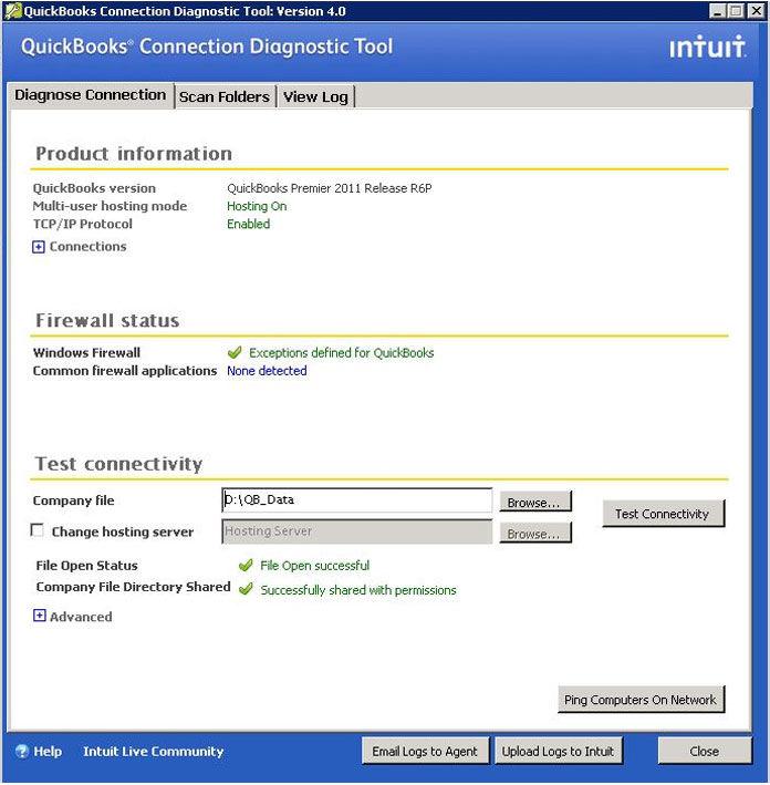 QuickBooks Connection Diagnostic Tool-QuickBooksfixes.com