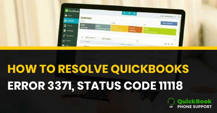 How to Fix QuickBooks Error 3371 Status Code 11118? | 1-888-412-7852