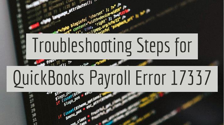 Resolve QuickBooks Error 17337 | Payroll Error Support +1800-316-0126