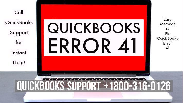 QuickBooks Error 41 Easy Repair Methods - Fix QB pdf errors instantly!