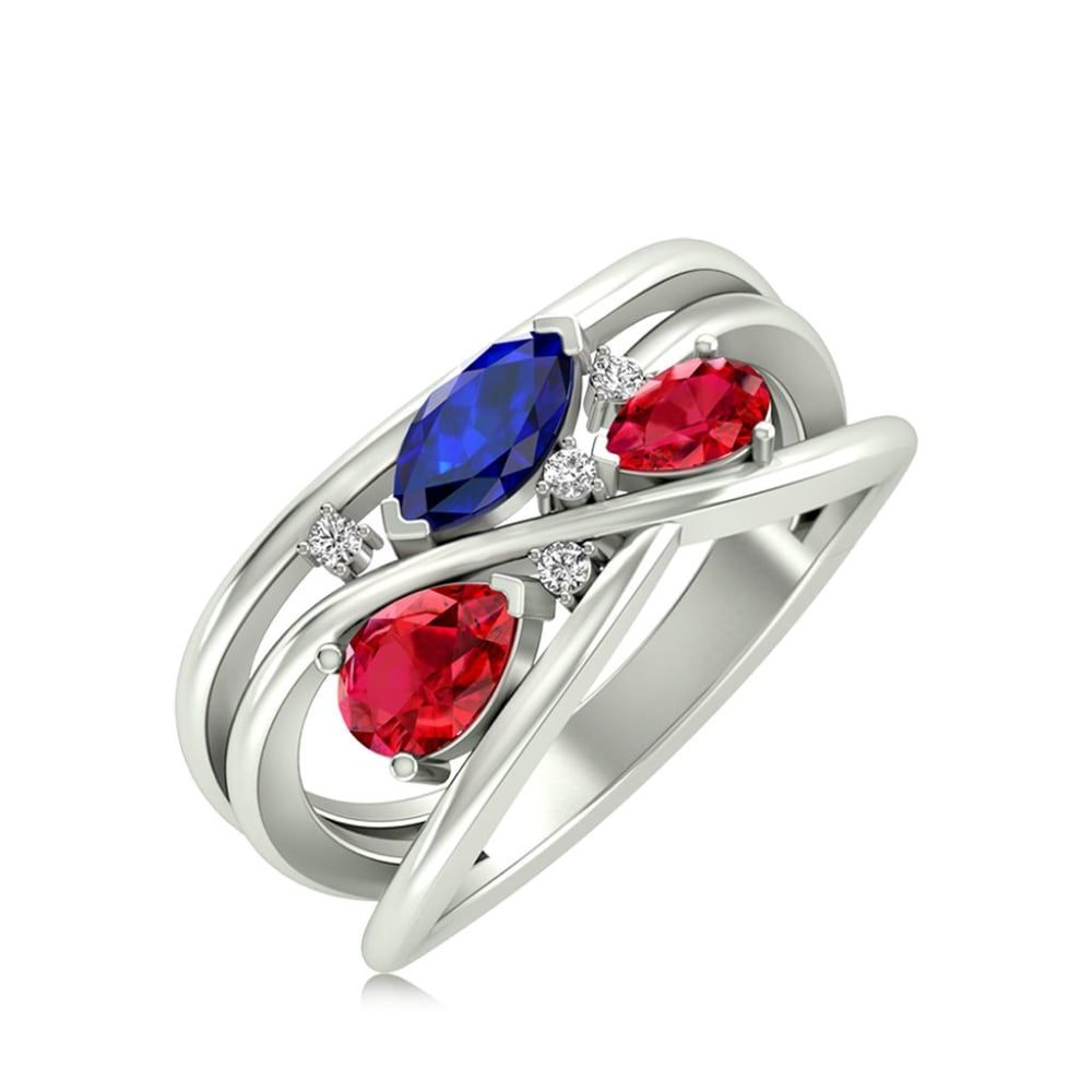 Buy Gemstone Rings Designs Online Starting at Rs.9067 - Rockrush India