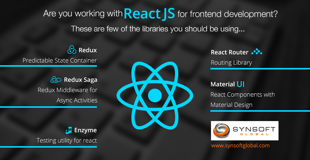 5 STUNNING REACT JS LIBRARIES - Synsoft Global