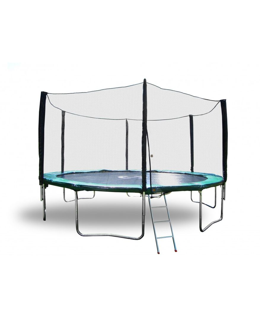 10'ft Outdoor Trampoline For Sale with Safety Enclosure and Ladder - Happy Trampoline