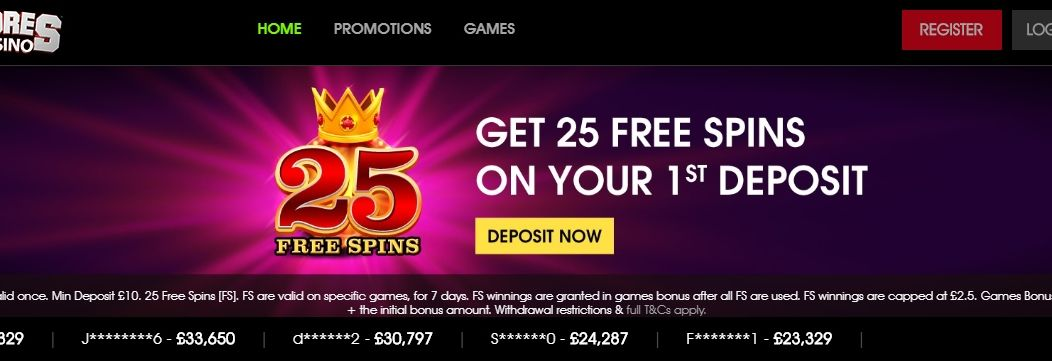 Scores Casino - Get 25 Free Spins - Best New Casino Site UK