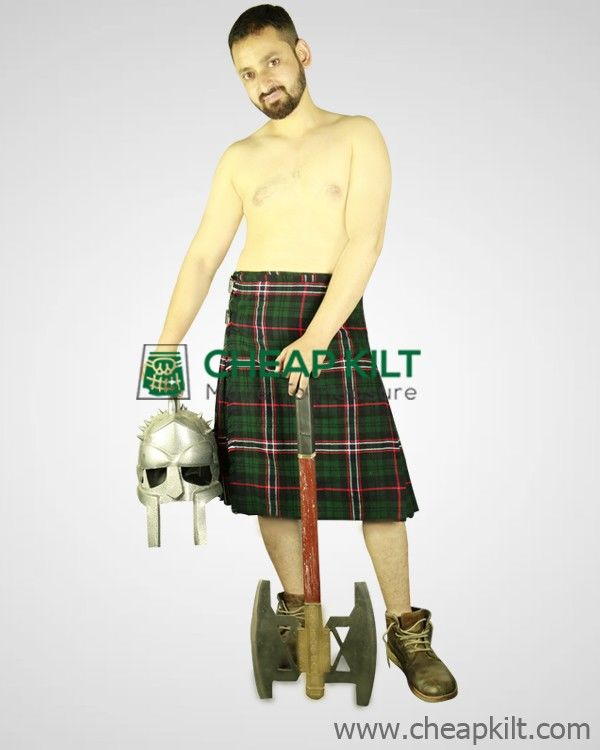 100% Traditional Scottish National and Impressive Tartan Kilt