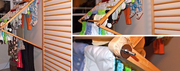Diy Wall Mounted Clothes Hanger