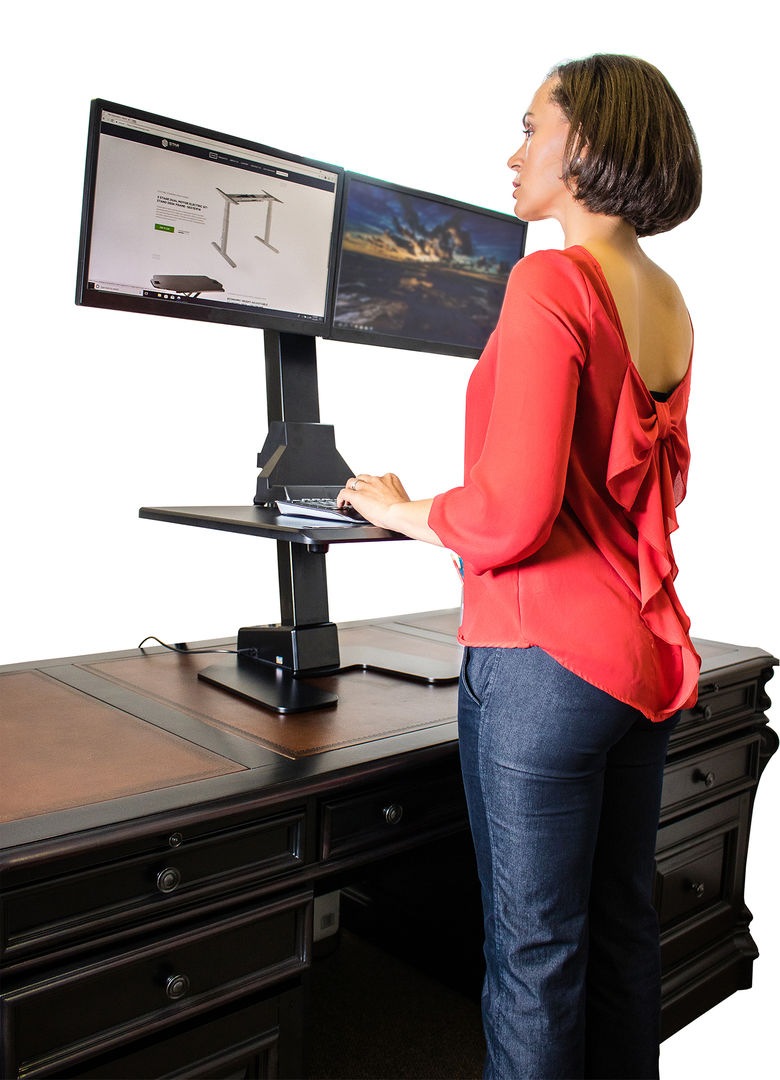 Buy Dual Monitor Electric Sit-Stand Workstation Online