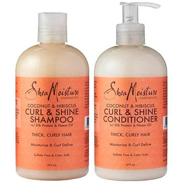 Shea Moisture Curl And Shine Shampoo And Conditioner