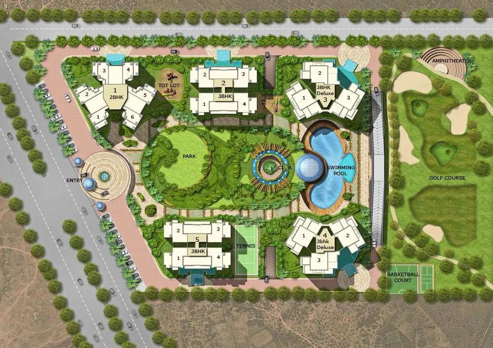 Ace golfshire Noida Site Plan