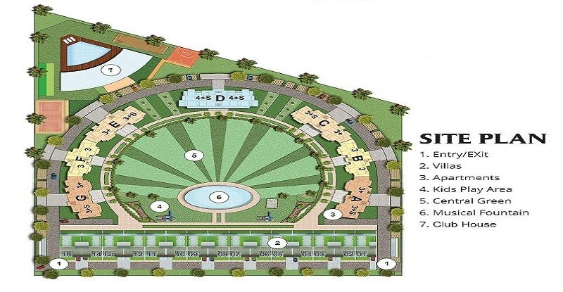Antriksh Golf Address Noida Site Plan