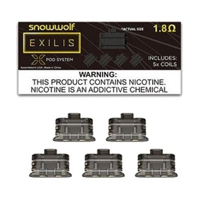 SnowWolf EXILIS XPod Replacement Coils - 5PC - Wholesale Vapor Supplies | USA Vape Distributor