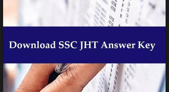 SSC JHT Answer Key 2018-19