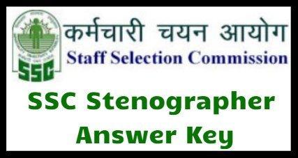 SSC Stenographer Answer Key 2018