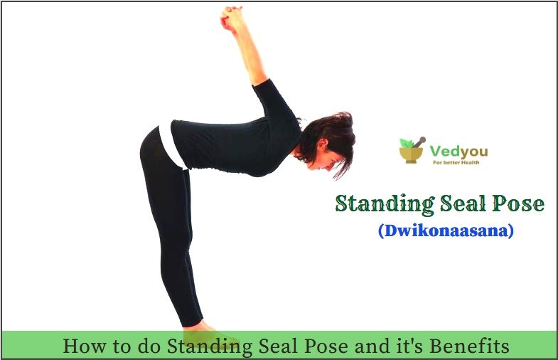 Standing yoga seal pose