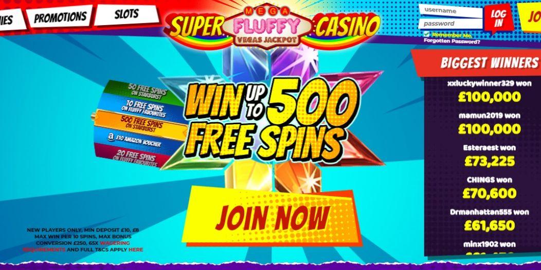 Super Mega Fluffy Rainbow Vegas Jackpot Casino | Win 500 Free Spins