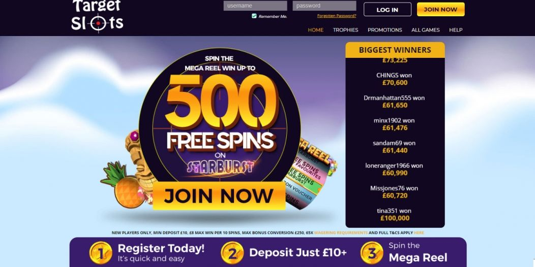 New Slot Site Target Slots | Win Up To 500 Free Spins on Starburst!