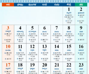 2019 Telugu Calendar with Holidays, Festivals, Download PDF
