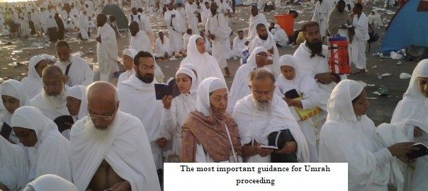 The most important guidance for Umrah proceeding