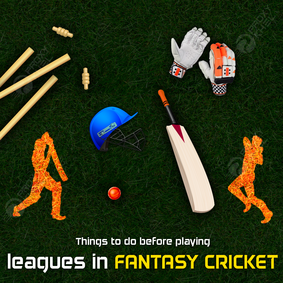 Things to do before playing leagues in Fantasy Cricket