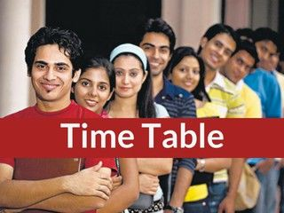 TS Intermediate Time Table 2019- Telangana Board 12th Time Table