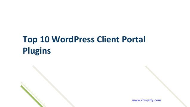 Top 10 WordPress Client Portal Plugins