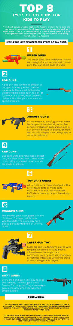 Top 8 Types of Toy Guns For Kids To Play