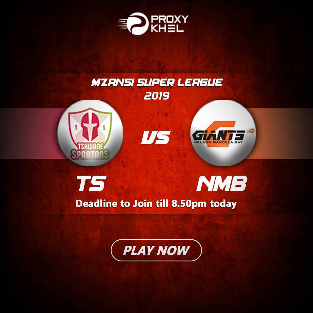 TS vs NMBG Match 5 MSL 2019 | Proxy Khel Fantasy Cricket Predictions.