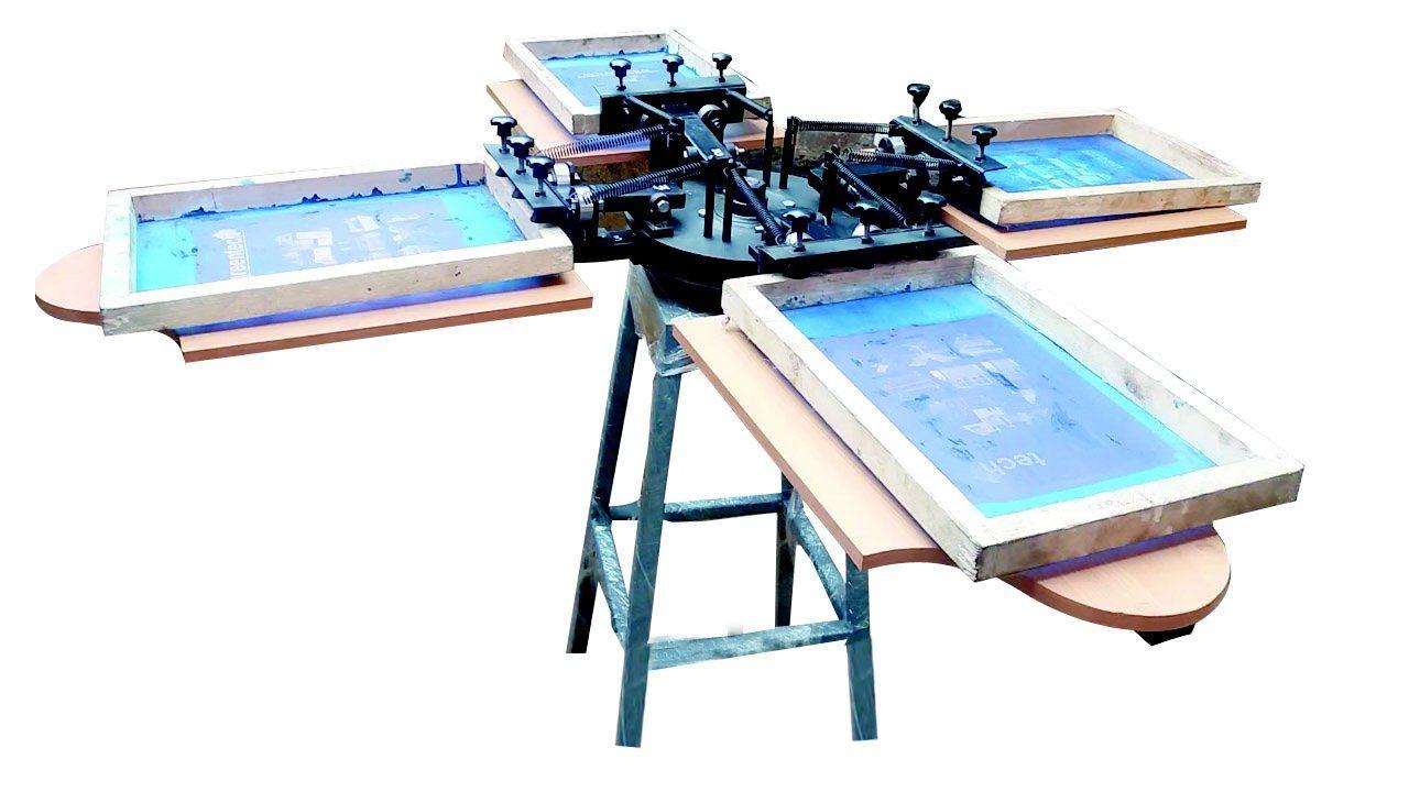 4 Colour T.shirt Screen Printing Machine in Coimbatore – Green Tech