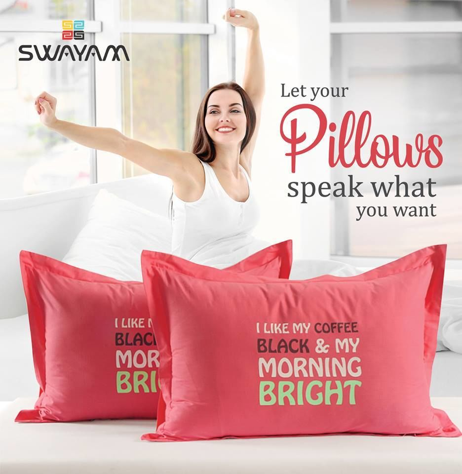 Artistically Designed Pillow Cover Gives Mesmerizing Look to Your Bedding- SwayamIndia
