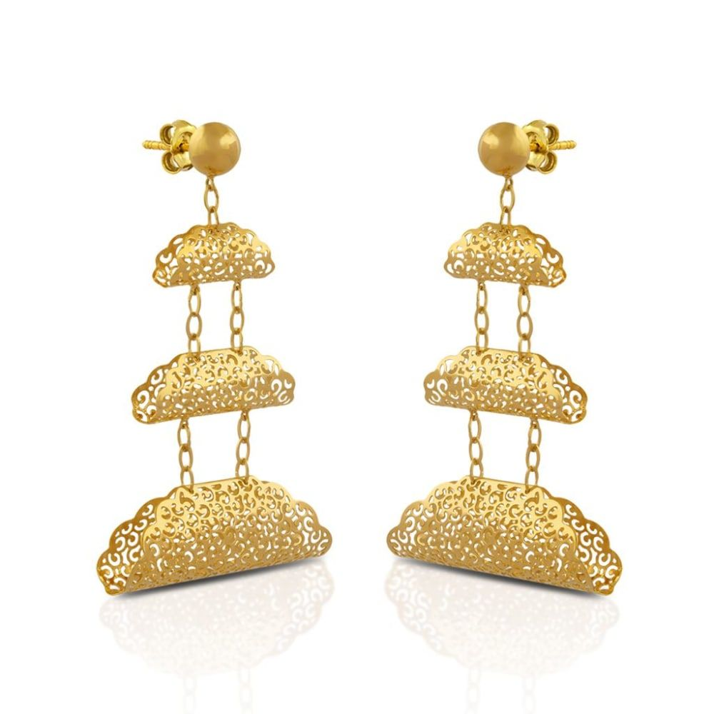 Buy Gold Earrings Designs Online Starting at Rs.4400 - Rockrush India