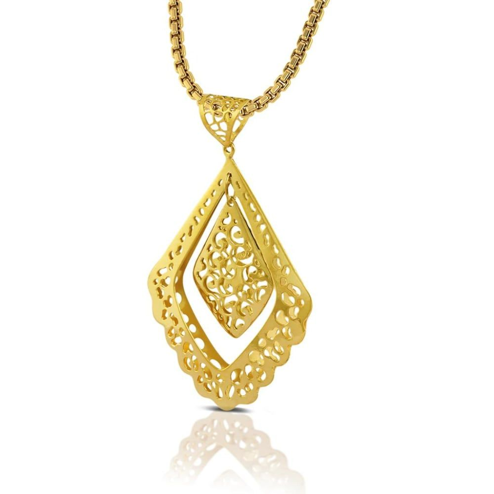 Buy Gold Pendants Designs Online Starting at Rs.3514 - Rockrush India