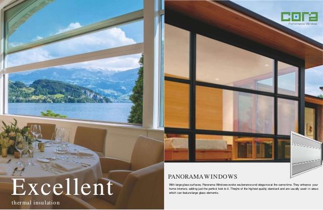 uPVC Panorama Windows - CORA Windows